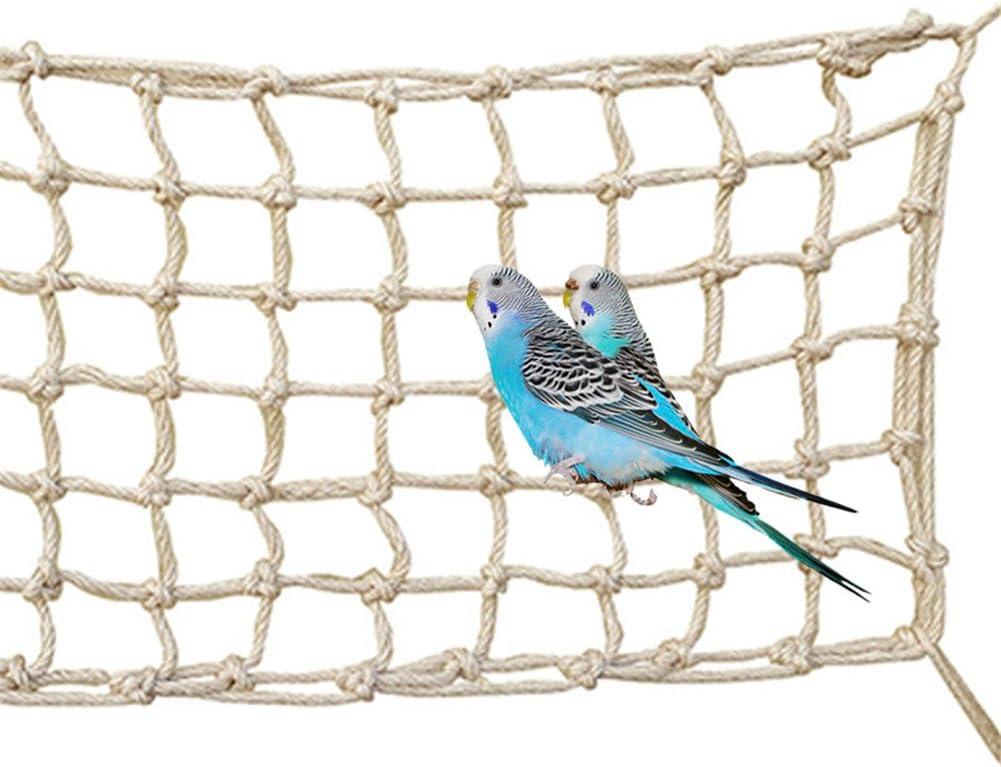 Bonaweite Large Bird Hemp Rope Climbing Parrot Net enriching Habitat