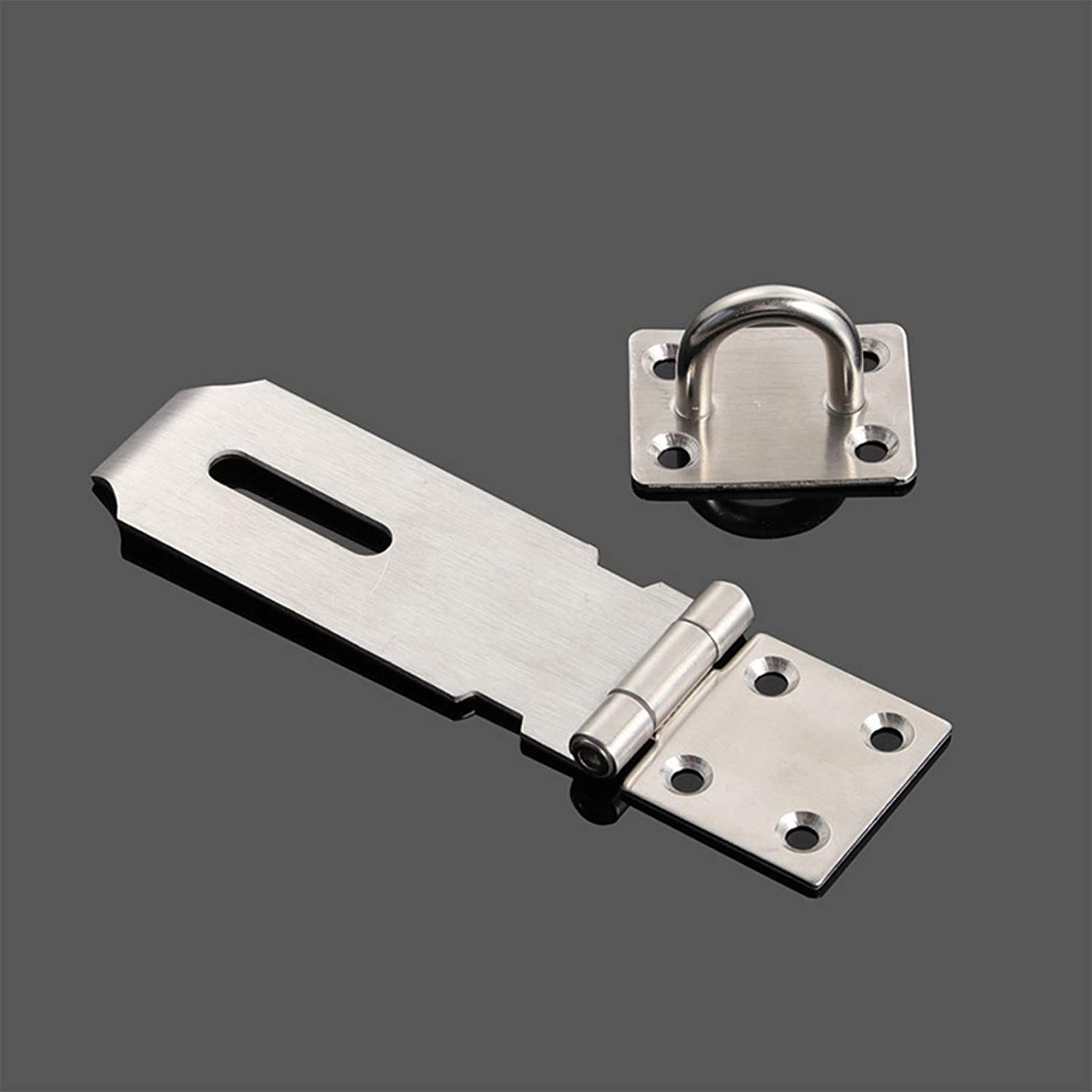 Pack of 2 3//4//5 inch Stainless Steel Padlock Hasp Latch with Screws Safety Door Lock Anti-Rust 5inch