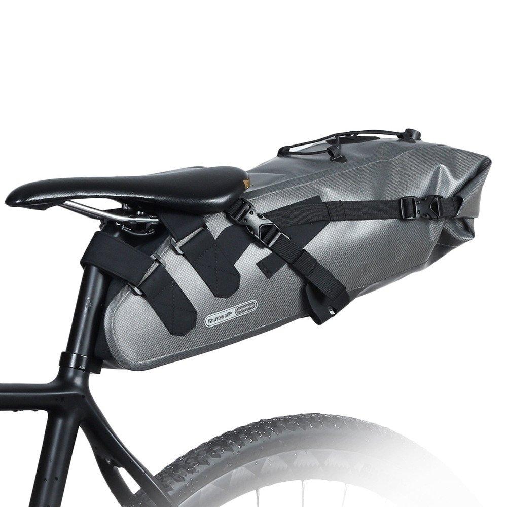 Fahrradtasche hinten Wasserdichte Fahrrad Satteltasche Bike Bag Unter Sitz Tasche Regenfest Mountain Road Bike Sitz Tasche Fahrrad Tasche Professionelle Radfahren Zubehör Reflektorstreifen mit große