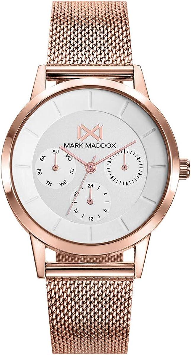 Reloj en Acero Rosa Mark Maddox señora.MM7126-97