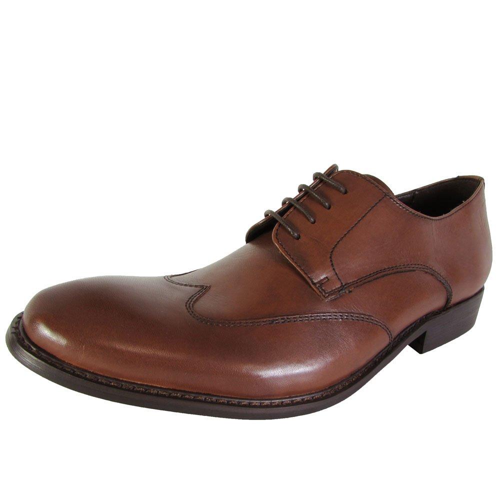 Kenneth Cole New York Mens Main Lane Wingtip Oxford Shoes, Cognac, US 11