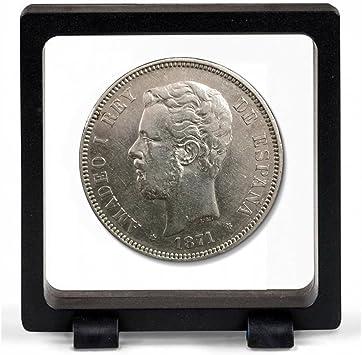 IMPACTO COLECCIONABLES Monedas Antiguas - España 5 Pesetas de Plata 1871/74. Amadeo I: Amazon.es: Juguetes y juegos
