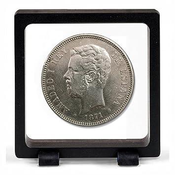 IMPACTO COLECCIONABLES Monedas Antiguas - España 5 Pesetas de Plata de Amadeo I