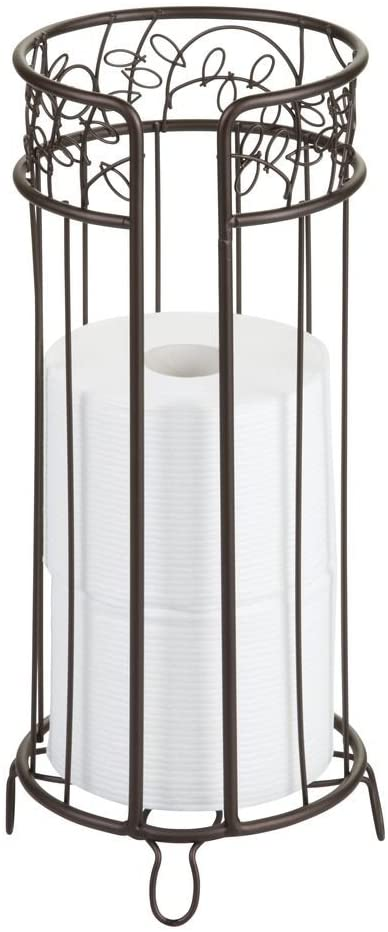 iDesign Twigz Metal Toilet Tissue Roll Reserve Organizer for Bathroom, Compact Organizer, Holds 3 Rolls of Toilet Paper, Bronze: Home & Kitchen