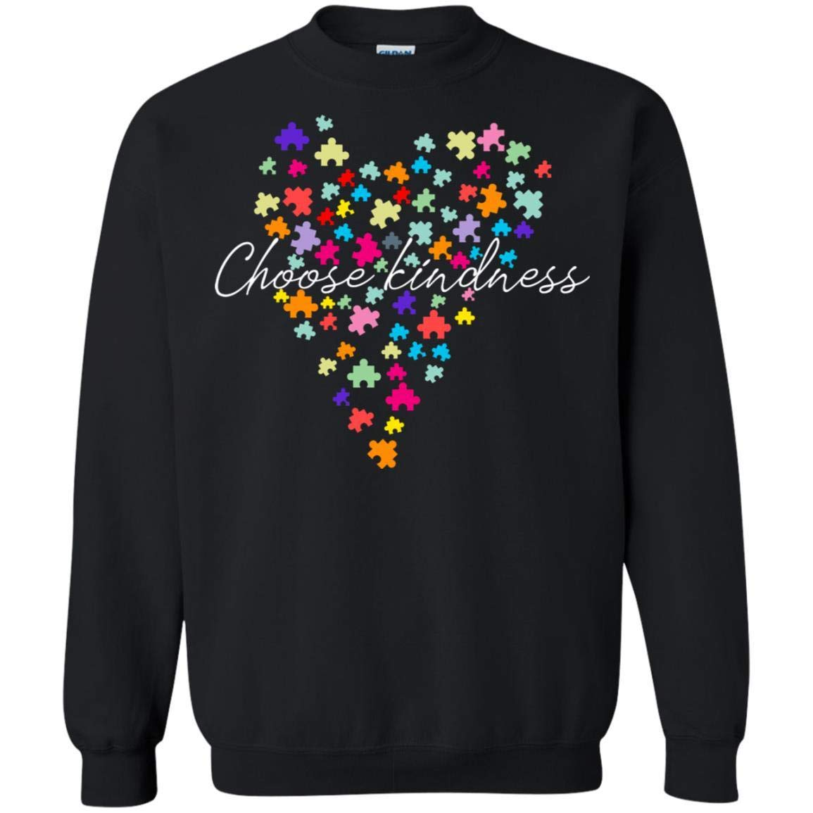 Teelesto Choose Kindness Puzzle Heart Autism Awareness Puzzle Shirt