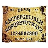 TSlook Hippie Tappassier Tapestry Bohemian Bedspread The Ouija Board Letter Digital 90'' x 60''