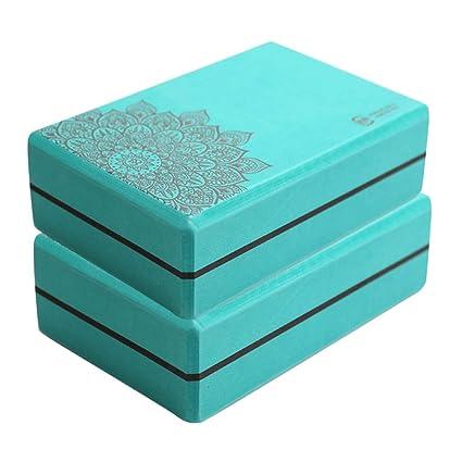 Amazon.com: Yongyong Printed Yoga Brick High Density Foam ...