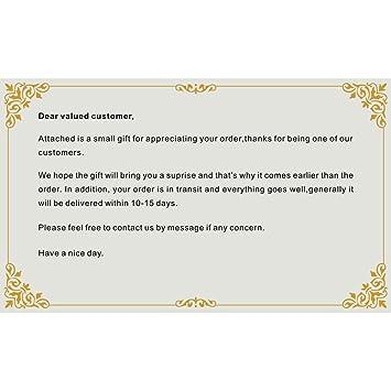 amazon prettygood7 1pc folding business greeting card word card