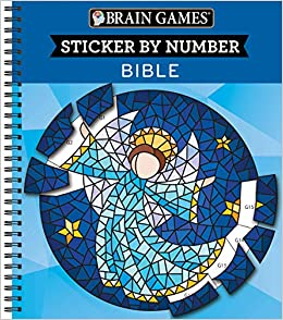 Amazon Com Brain Games Sticker By Number Bible