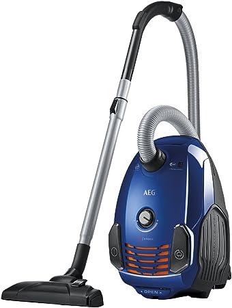 AEG X-Force Aspiradora con Bolsa con Cepillo, 700 W, 77 Decibelios, Azul Cielo: Amazon.es: Hogar