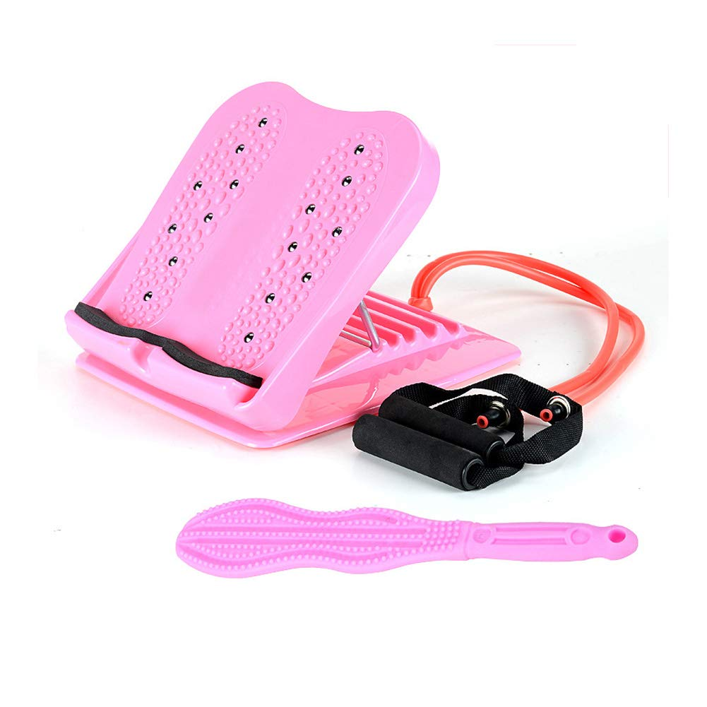 Stepper Mini Stepper Sports Stepper with Massage Magnet with Elastic Rope Anti-Skid Pedal,Pink