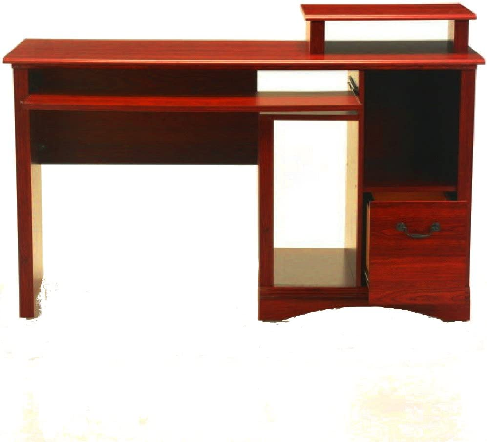 Modern Large Wood Top Student Studying Writing Desk Workstation Under Laptop Table Bookshelf FunDiscount Home Office Computer Desk with One-Tier Storage Shelves 47 x 24 x 29 Inch
