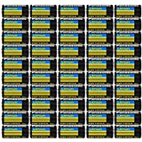 50 pcs Panasonic CR123A 3V Photo Lithium Batteries