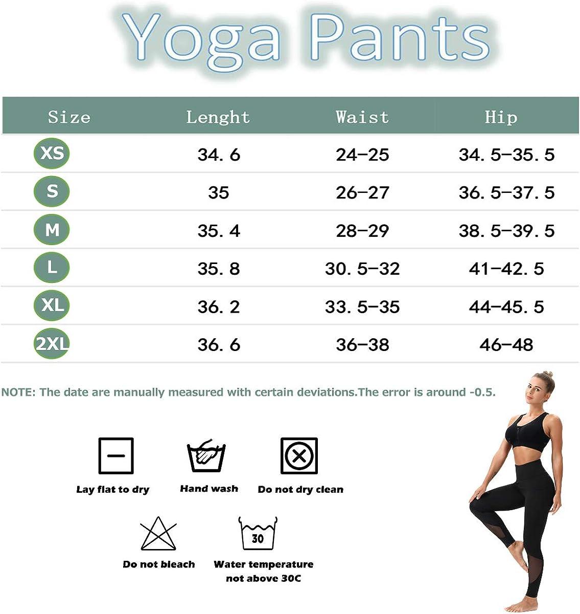 Kipro Womens Yoga Pants with Pockets High Waist Mesh Leggings Tummy Control 4 Way Stretch Workout Leggings