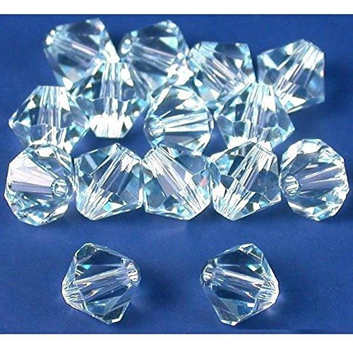 15 Light Azore Bicone Swarovski Crystal Beads 5301 6mm