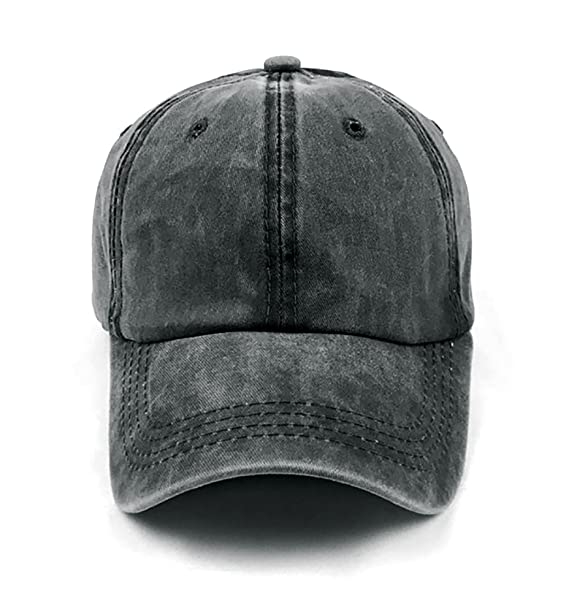 102ec411 Glamorstar Classic Unisex Baseball Cap Adjustable Washed Dyed Cotton Ball  Hat Black at Amazon Men's Clothing store: