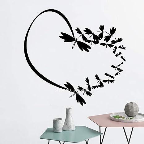 Mariposa romántica corazón vinilo tatuajes de pared hermosa ...