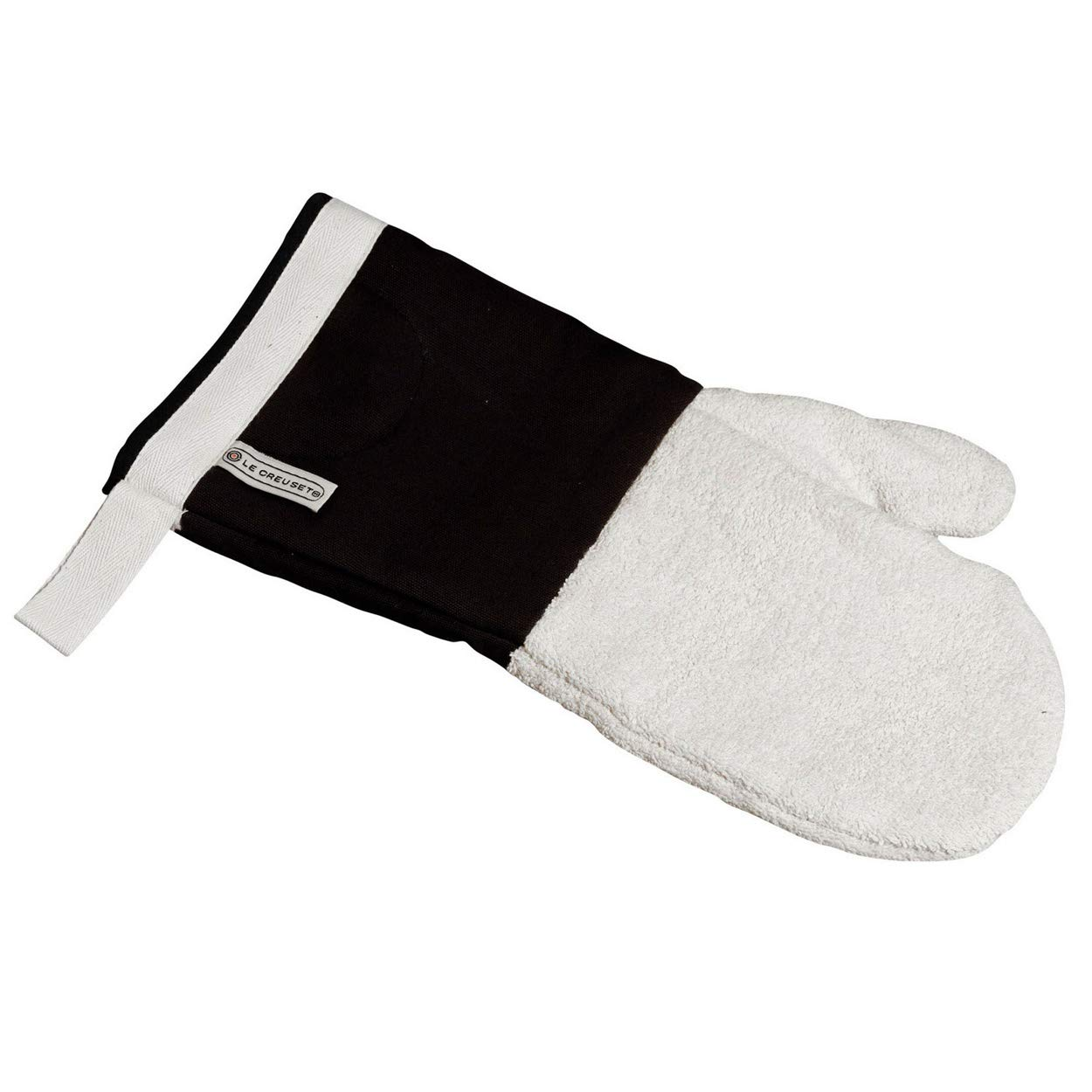 Le Creuset Textiles Oven Mitt, 14 Inch - Black/Beige TH4911-31 kitchen accessories oven gloves oven gauntlet