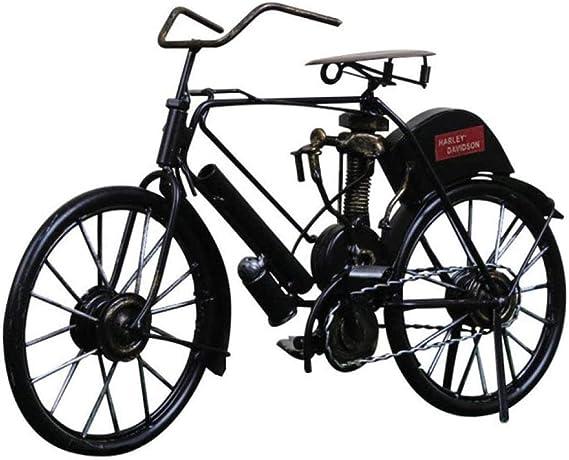 HZY Bici Vieja artesanales de Metal Viejo Modelo de Bicicletas Retro Modelo Antiguo Club de Bicicletas estatuilla Ornamento del Ministerio del Interior Decoración, Rojo, Color: Rojo (Color : Black): Amazon.es: Hogar