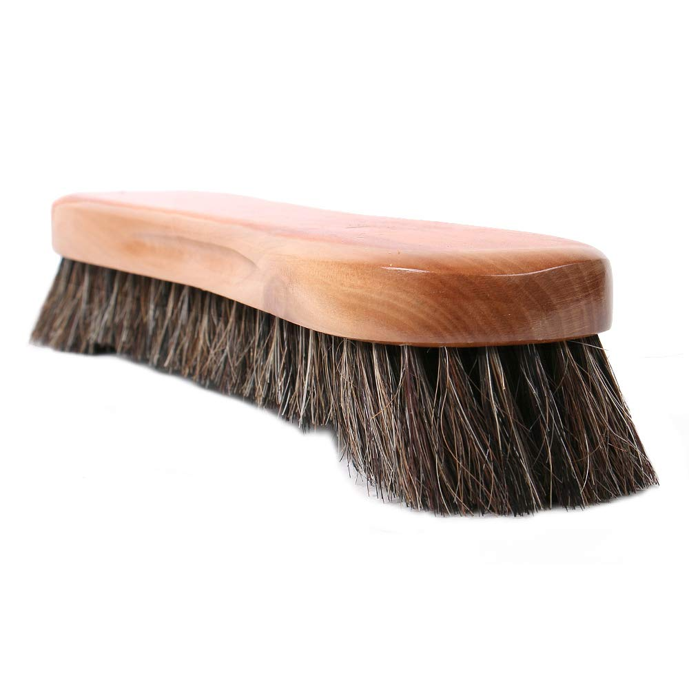 Large 12'' Long Billiard Brush with Natural Horsehair and Solid Wood Premium Quality Wooden Handle