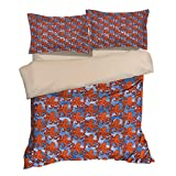 Fantastic Red Octopus Cotton Microfiber 3pc 104''x90'' Bedding Quilt Duvet Cover Sets 2 Pillow Cases King Size