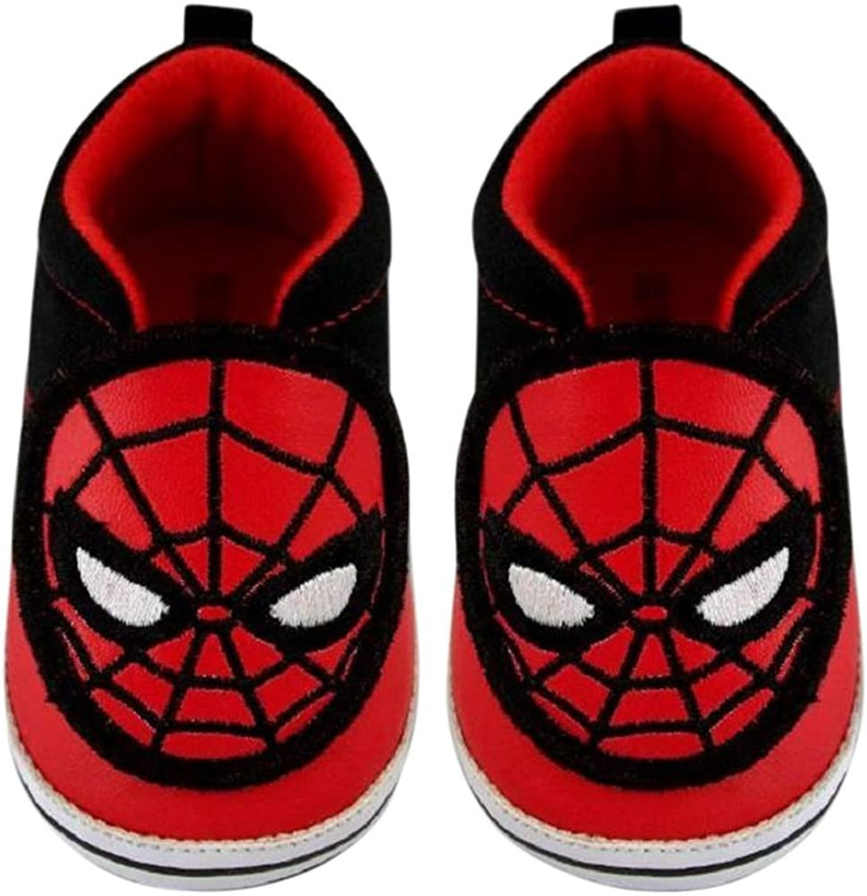 BOYS MARVEL SPIDERMAN CRAWL BOOTS RED BLACK HIGH TOP TRAINERS SIZE 1-7