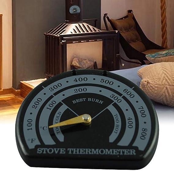 Currentiz term/ómetro de Ventilador Term/ómetro magn/ético para Estufa de Madera de Chimenea