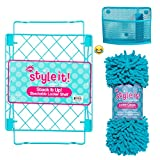 School Locker Organizer Kit - Accessories and Decoration Set with Shelf, Rug and Bin (Aqua)