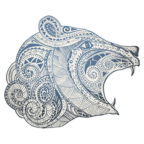 "Blue Bear with Paisley Pattern Vinyl Decal Sticker (4"" Wide)"