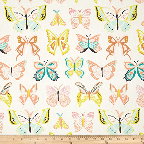 Art Gallery Winged Wingspan Melon Fabric By The Yard