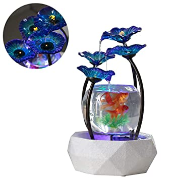 DJLOOKK Peceras Acuario Fish Tank Glass Gold Fish Tank Cuatro Exclusivas Formas De Agua Creativa Sala