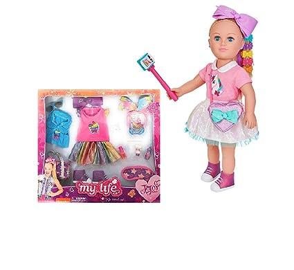 Amazon Com Jojo Siwa Exclusive My Life Doll And 15 Piece Jojo