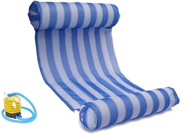 jtxqy Hamac Gonflable /à Eau Flottant Lit Lounge Chaise Drifter Piscine Plage Flotteur pour Adulte