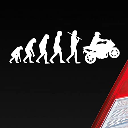 Auto Aufkleber In Deiner Wunschfarbe Evolution Motorrad Mopped Bike Dub Oem 15x4 5cm Autoaufkleber Sticker Folie Auto