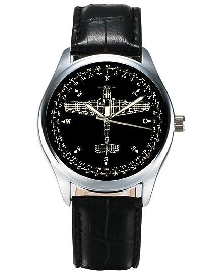 Messerschmitt 209 me-209 WW-II Luftwaffe alemán brújula arte coleccionistas Reloj: Amazon.es: Relojes