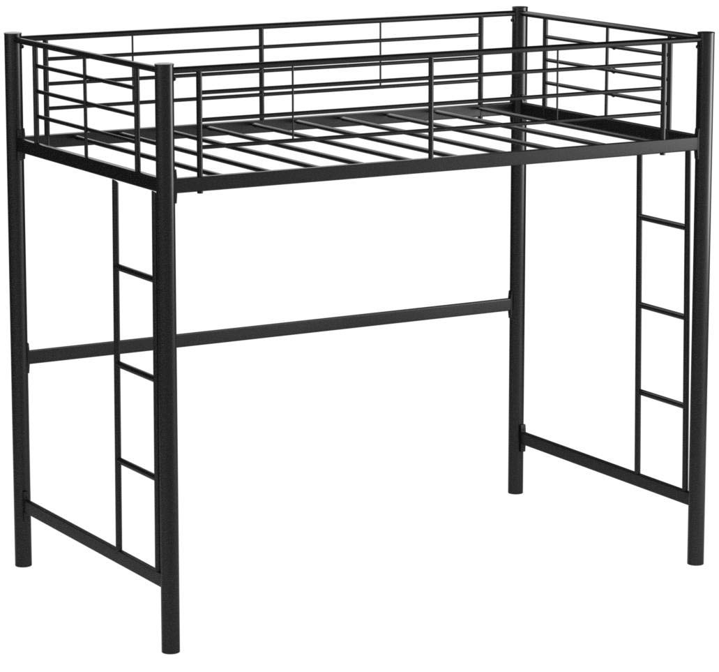 Your Zone Metal Loft Twin Bed by SuperIndoor (Single, Black) by your zone5410096we