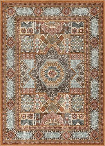 Well Woven Fabri Medallion Multi Modern Distressed Traditional Vintage Orienital 8×11 7 10 x 9 10 Area Rug