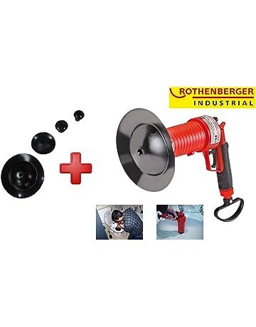 ROTHENBERGER Industrial Pressluft Rohrreiniger inkl. 4 Gummiadapter, Rohr frei in Bad, Küche,
