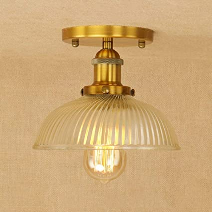 Amazon.com: Ganeep American Loft Industrial Decor LED Ceiling Lamp ...