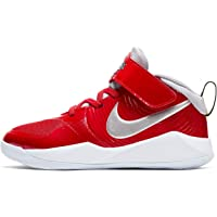 Nike - Nike Team Hustle D9 PS Scarpe Alte Bambino Sneakers Basket CQ4278 600 Rosso - 32, Rosso