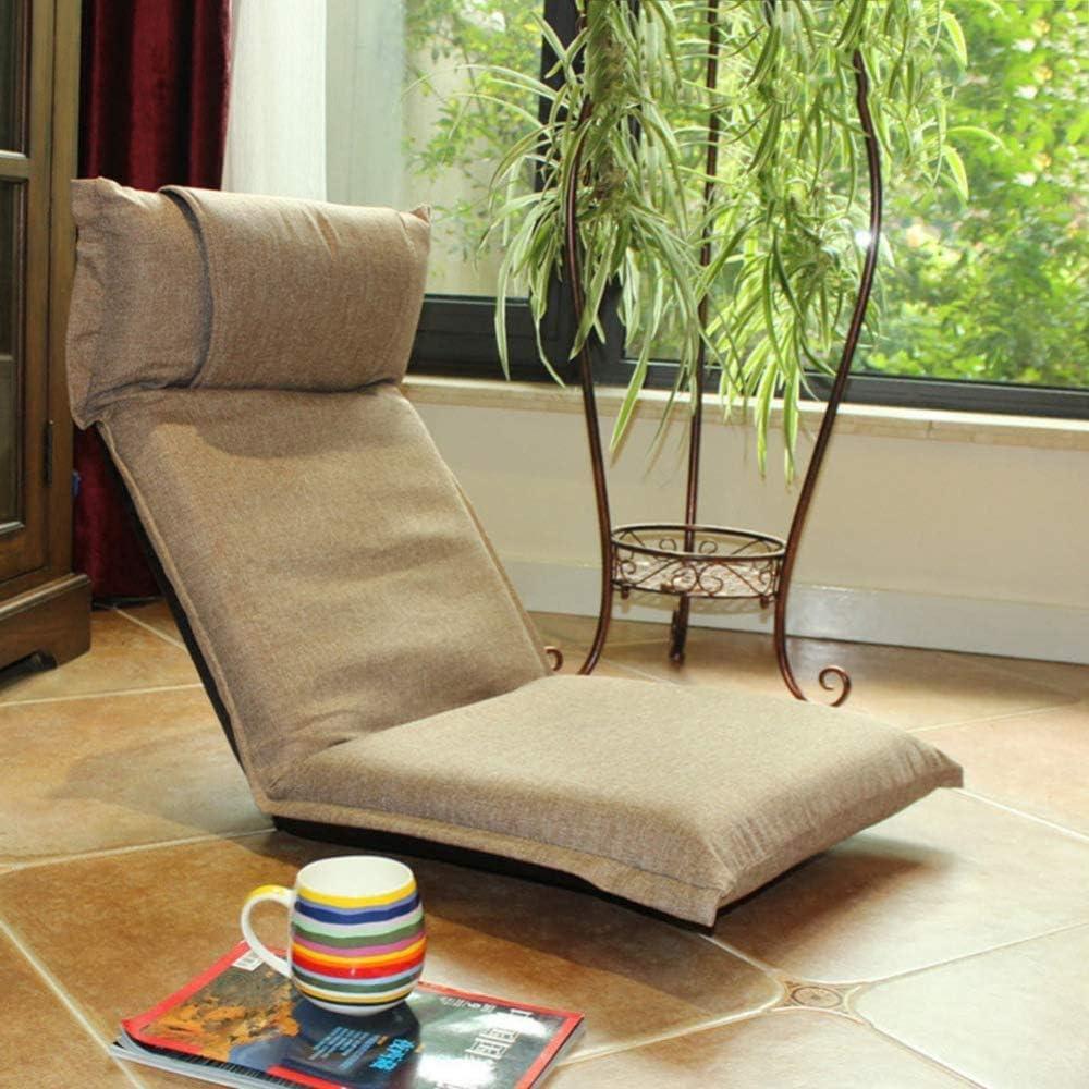 YTDHBLK Japanese Tatami Floor Chair Seduta Pieghevole da Terra Sedia da Meditazione Regolabile Imbottita J