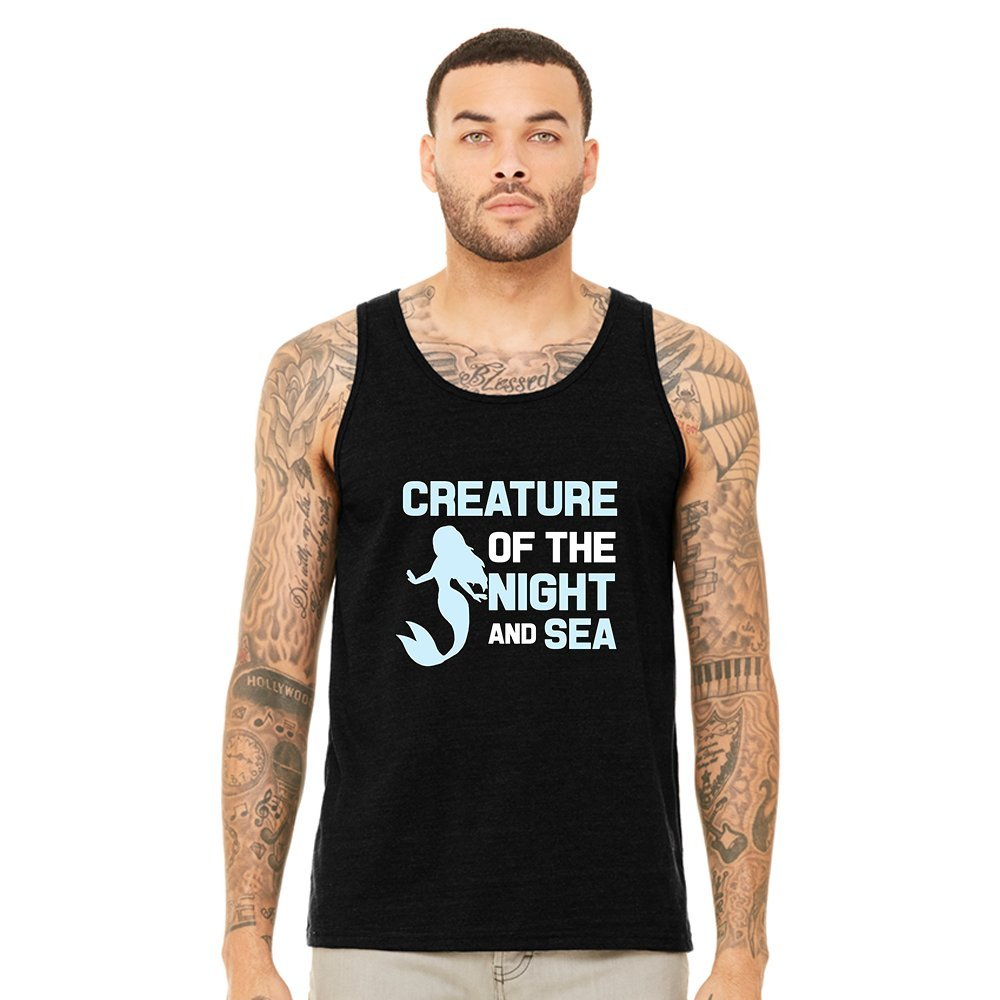 Mad Over Shirts Creature of The Night and Sea Unisex Premium Tank top