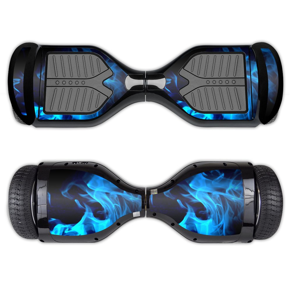 MightySkins Skin For Swagtron T1 - Blue Flames | Protective, Durable, and Unique Vinyl Decal wrap cover | Easy To Apply, Remove, and Change Styles | Made in the USA