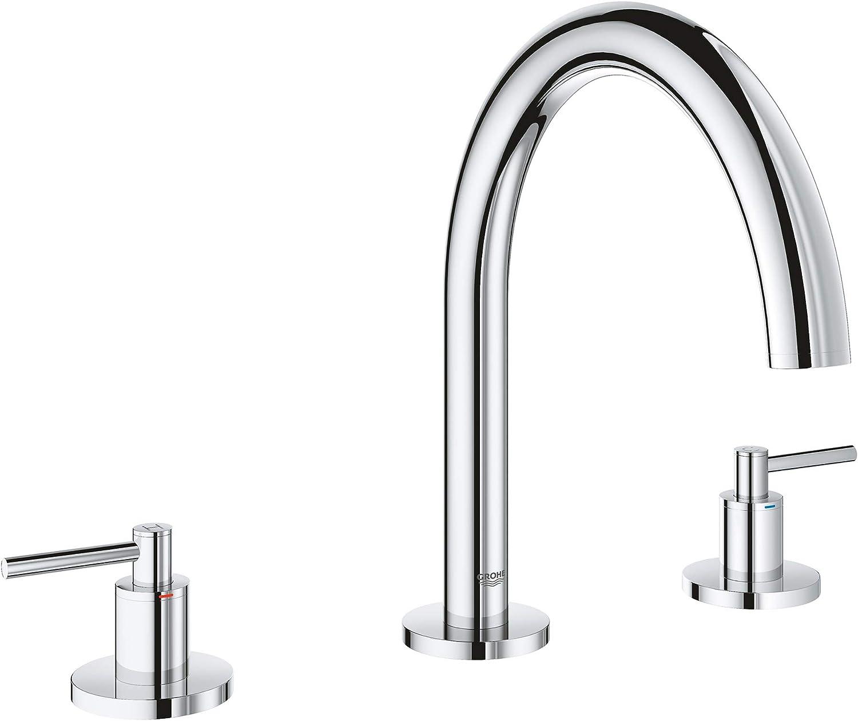 Brushed Nickel GROHE 18034EN3 Atrio Roman Bathtub Faucet Lever Handle