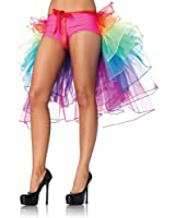 Leg Avenue Layered Organza Rainbow Bustle Skirt, Multicolor, One Size