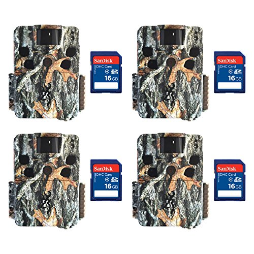 Browning Dark Ops HD Pro 18MP Video IR Game Trail Camera (4 Pack) + SD Cards