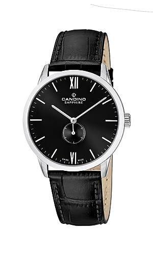 Candino C4470/4 - Reloj analógico de Cuarzo para Hombre con Correa de Piel, Color Negro: Amazon.es: Relojes