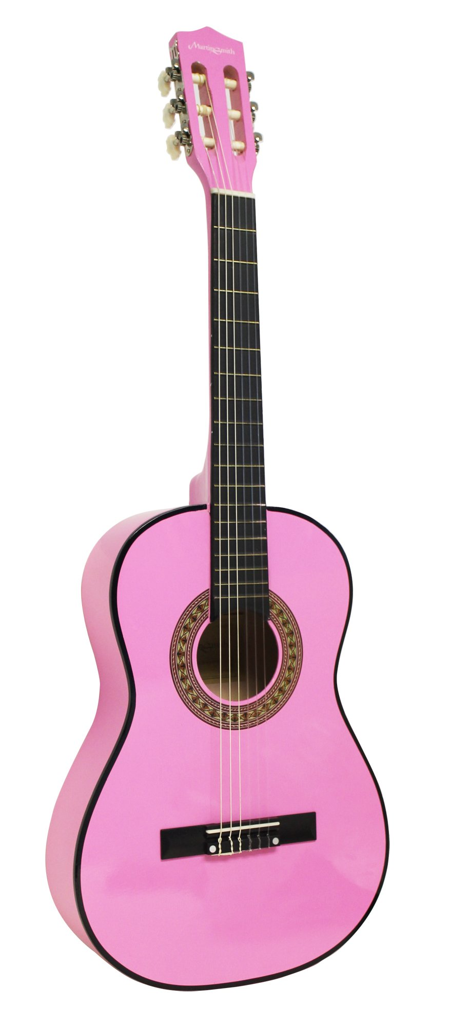 Martin Smith 6 String Classical Guitar 3/4 Size 36 inches for Children, Pink (W-560-PNK)