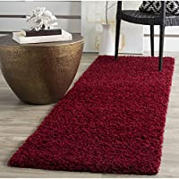 Safavieh Athens Shag Collection SGAS119R Red Runner (23 x 8)