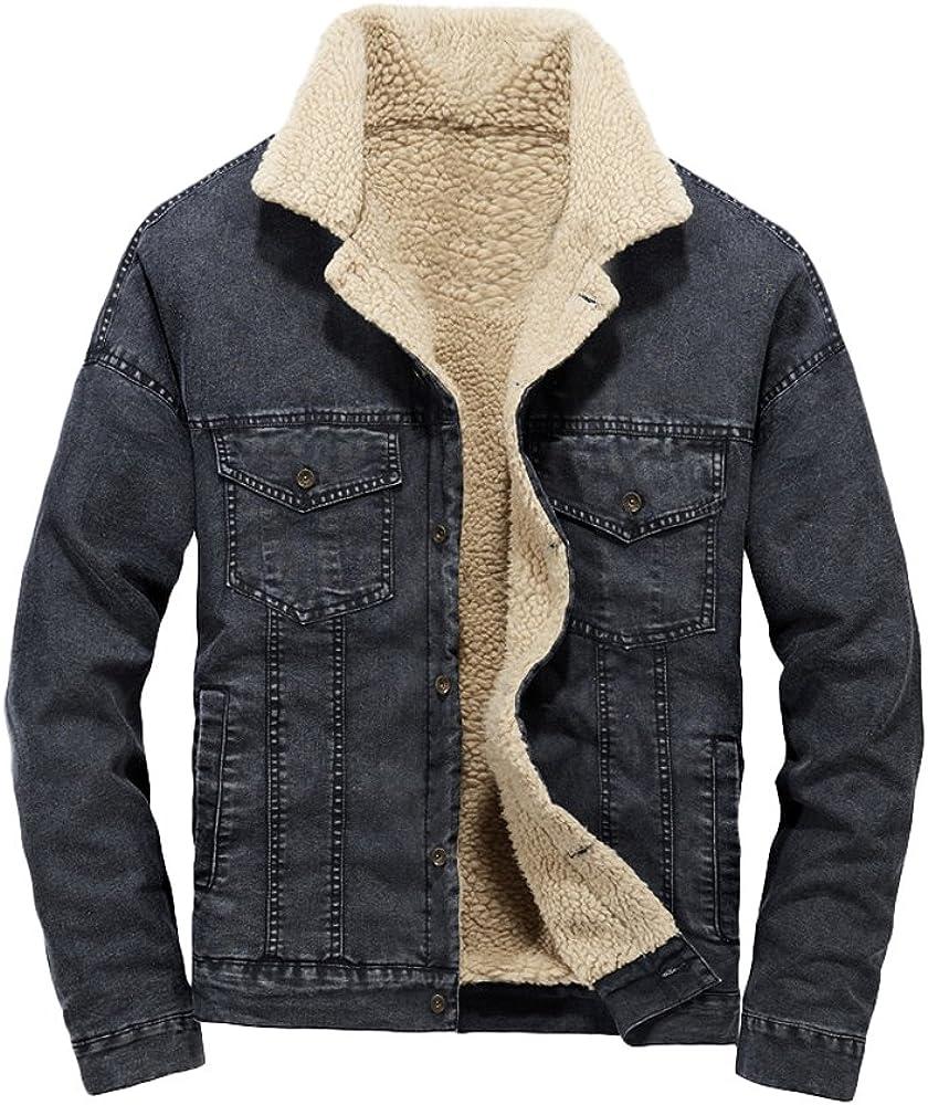 Lavnis Men S Casual Denim Jacket Winter Slim Fit Button Down Jeans Coat Black S At Amazon Men S Clothing Store